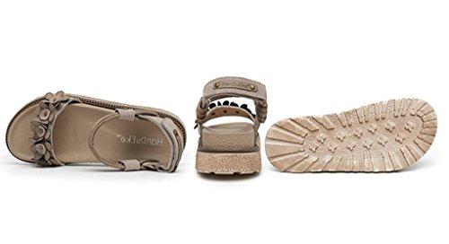 Coreana 1 Fondo con Versione Scarpe Sandali da Scarpe Sexy estive Fiori Donna Aperti Colore Vintage Scarpe Plateau Romane 34 Dimensioni Spesso Sandali HJHY 8Rxw0Ynn