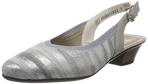 Grau metallic Cinturino Scarpe con Donna Rieker alla Nebbia 58063 Caviglia Grigio CqOnnwgp