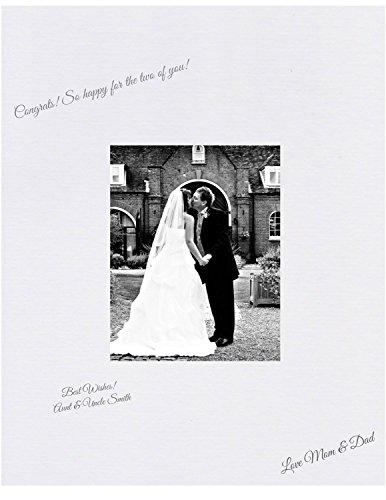 Wedding Autograph Photo Frame - 16x20 White Signature and Autograph Picture Mat for 8x10 picture. Weddings, Baby Showers, Reunions