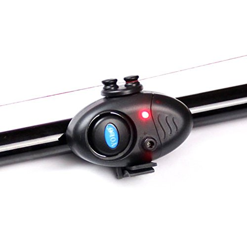 ESHOO Fishing Bite Alarm Electronic LED Sound Alert Bell Clip on Fishing Rod