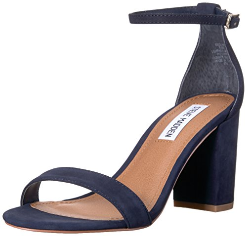 Steve Madden Women's Declair Dress Sandal Navy Nubuck 7 M US