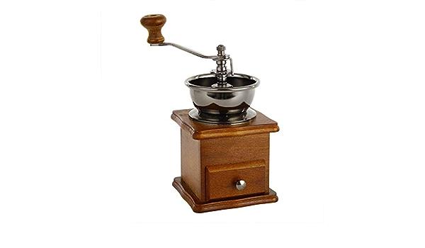molinillo de pimienta 1 pieza de plata creativa y /útil Ogquaton molinillo de caf/é manual de acero inoxidable herramientas de cocina para uso dom/éstico o campamento molinillo de granos de caf/é