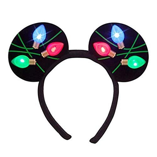 Disney Park Christmas Light Minnie Ears Headband