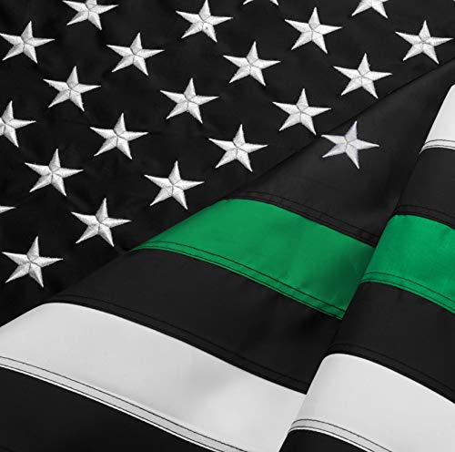 FBNC Thin Green Line Flag 3x5 Ft: Durable Nylon Embroidered