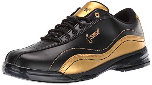 (Hammer Bowling Products Mens Black Widow Gold Performance Bowling Shoes- Right Hand Wide 10 1/2, Black/Gold, 10.5E)