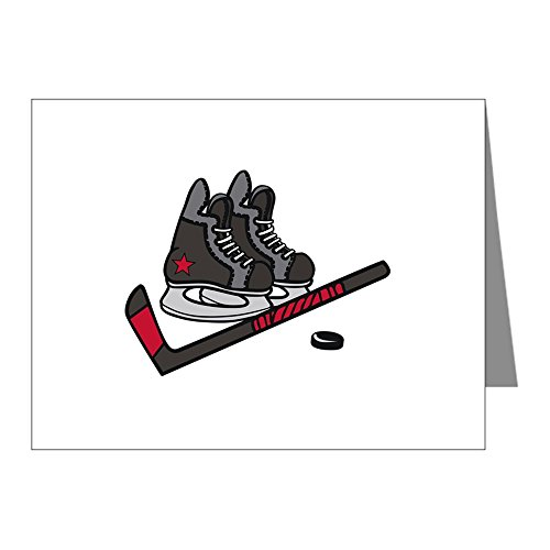 CafePress - Hockey Skates Note Cards - Blank Note Cards (Pack of 20) Matte
