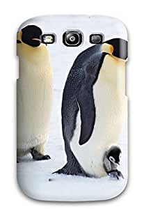 Cute Appearance Cover/tpu WegjnNh2527ykUPX Arctic Penguins Pair Case For Galaxy S3