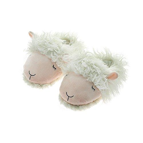 Aroma Home Shoes Unisex Adults' Lamb Open Back Slippers, Pink (Light Pink/White), 7 UK (41 EU) (Medium)