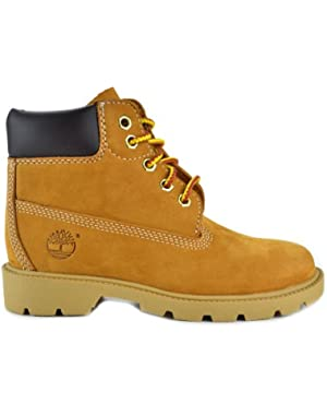 6 Inch Preschool Kids Wheat Nubuck Leather Boots