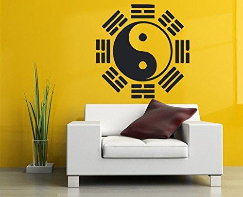 Yin and Yang wall decal Asian wall sticker oriental wall vinyl mascot decor ae1045 -  AEWALLDECAL
