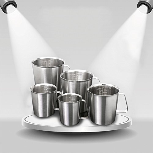 Isali Kitchen Tools & Gadgets - Isali KC-MCup 18/10 Stainless Steel Measuring Cup Frothing Pitcher with Marking For Milk Froth - (Capacity: 500ml) -  ISL-F95DEAA289879CA48E58682D354C93DD