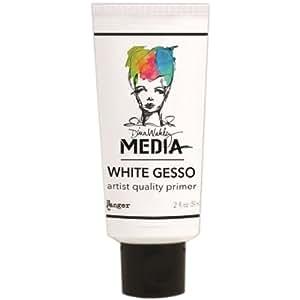 Ranger Dina Wakley Media Gesso Tube, 2-Ounce, White