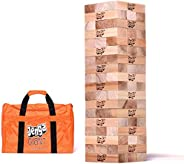 Jenga Giant JS7 (Stacks to Over 5 feet) Precision-Crafted Premium Hardwood Game with Heavy-Duty Carry Bag (Aut