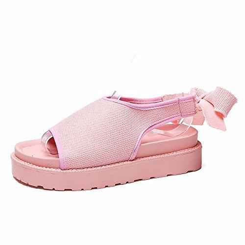 da XIAOGEGE donna spiaggia Sandali traspirante Rosa scarpe studente cinghie calzature nuovo E88q7w