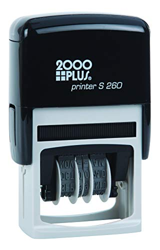 - 2000 PLUS 4-in-1 Self-Inking E-Message Date Stamp, 1-78