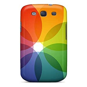 Galaxy S3 Hard Back With Bumper Silicone Gel Tpu Case Cover Translucent Colors