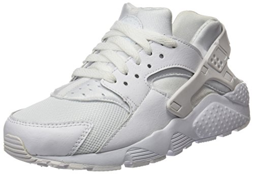 - NIKE Youths Huarache Run Print Mesh Trainers (7 M US Big Kid, White/White)