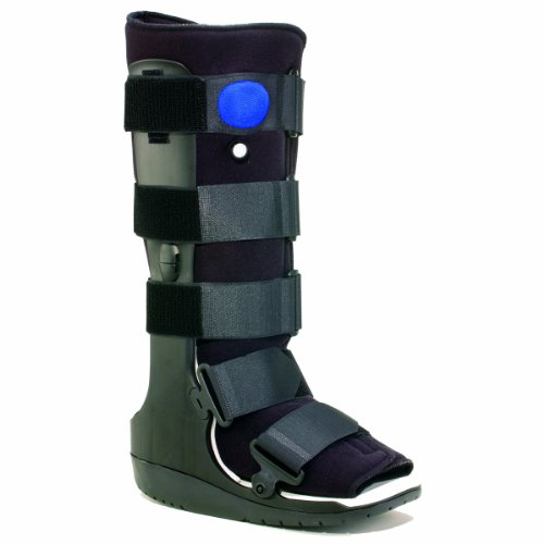 OTC High Top Adjustable Air Cast Walker Boot, Black, Delux Tall/X-Small by OTC