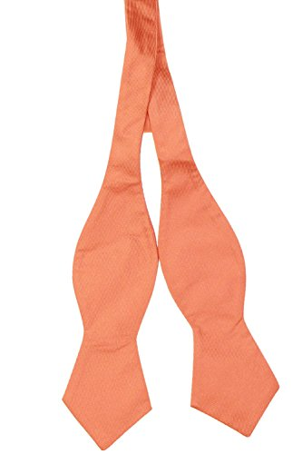 Tommy Hilfiger Men's Spring Solid Pointed Bow Tie, Orange, One Size