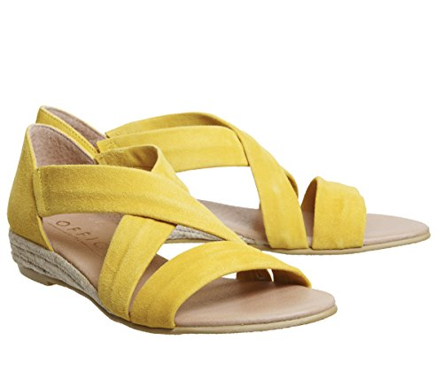 Office Women's Hallie Espadrilles Bright Yellow Suede 5MK4opJbOM