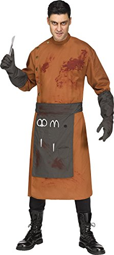 UHC Demented Doctor Outfit Evil Mad Scientist Fancy Dress Halloween Costume, OS (Mad Doctor Halloween Costume)
