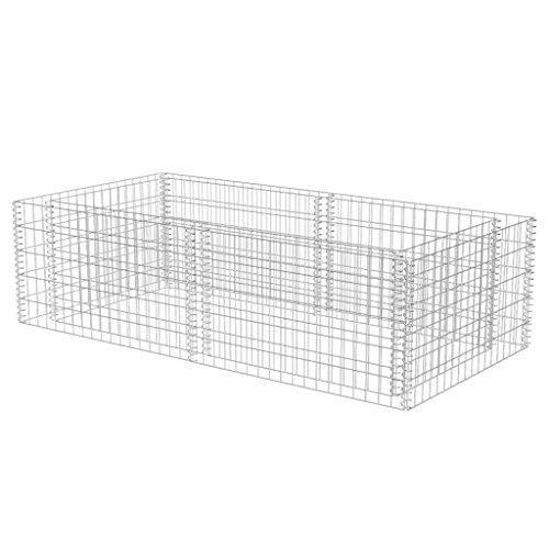 Anself 180x90x50cm Steingabione Steinkorb Metallkorb aus Verzinktem Stahl