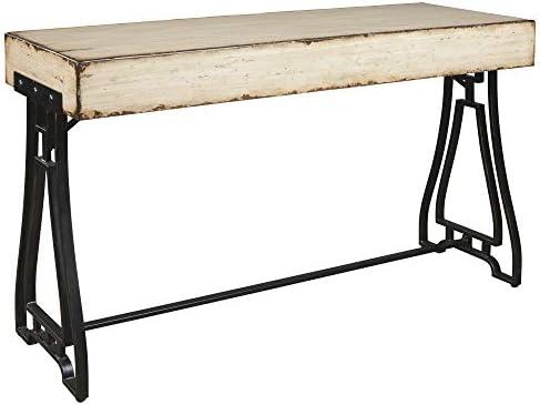 Signature Design by Ashley – Vanport Console Sofa Table – Urban – Cream