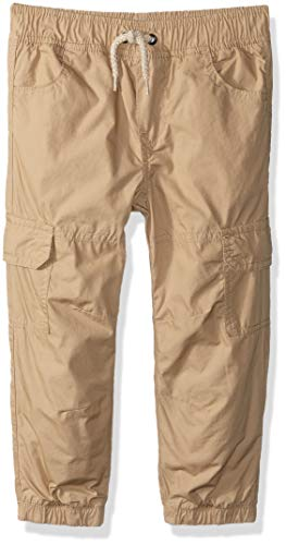 Crazy 8 Toddler Boys' Drawstring Lined Woven Jogger Pant, Khaki Cargo, 5T (Lined String)