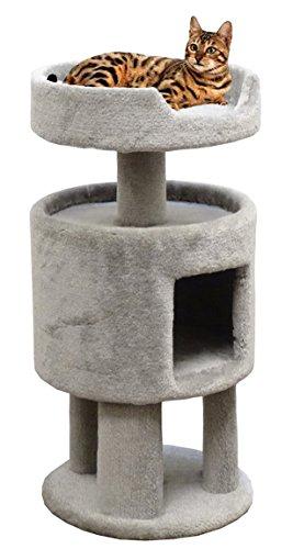 Carpeted Cat Condo Cat Perch, Gray Carpet For Sale