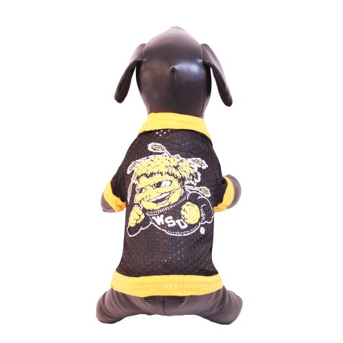NCAA Wichita State Shockers Athletic Mesh Dog Jersey, Team Color, X-Small