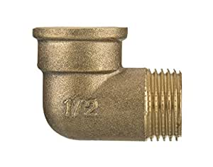 """1/2"""" BSP European Thread Pipe Connection Elbow Male x Female Screwed Fittings Iron Cas..."""