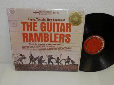 (THE GUITAR RAMBLERS Happy, Youthful New Sounds of LP Columbia CSRP 8867 SHRINK)