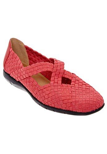 Comfortview Womens Wide Heleena Tessuto Rosso Piatto