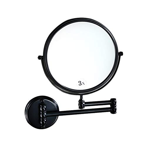 EXTR ANT Wall-Mounted Vanity Mirror - Double-Sided Magnifying Mirror, 8-inch Bathroom 360° -