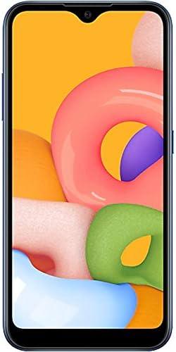 "Samsung Galaxy A01 (A015M) 16GB, Dual SIM, GSM Unlocked, 5.7"" Display Smartphone – International Version – Blue 41JmmIwSbQL"
