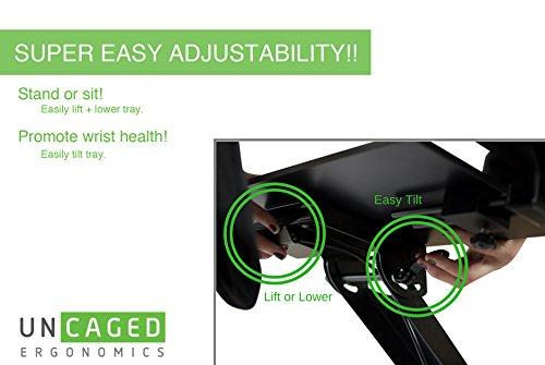 Uncaged Ergonomics Adjustable Height Amp Angle Ergonomic