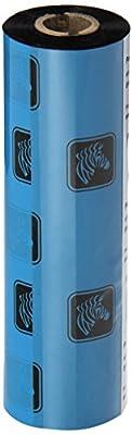 "Zebra Technologies 05319GS11007 Wax Ribbon, 0.5"" Core for Desktop Printers, 4.33"" x 244', Black (Pack of 12) from Zebra Technologies"