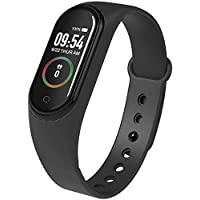 Forcado M4 Band with Activity Tracker | Waterproof Technology | Pedometer | Heart Beat Sensor | Blood Pressure Monitor Compatible with Android and iOS Devices (Random Colour)