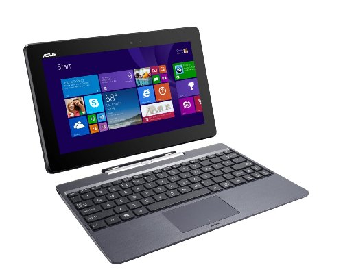 ASUS Transformer Book T100TAF-B14-GR 2-in-1 Tablet Intel Atom Z3735F (1.33 GHz) 32 GB eMMC Intel HD Graphics Shared memory 10.1' Touchscreen Windows 8.1(Certified Refurbished)