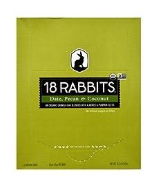 18 Rabbits Organic Granola Bar, Date, Pecan & Coconut 12 ea