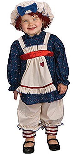 Rubies Ragamuffin Dolly Costume Toddler 2-4 Multicolored