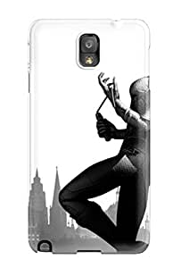Galaxy Note 3 Case Cover - Slim Fit Tpu Protector Shock Absorbent Case (batman Arkham City Game)