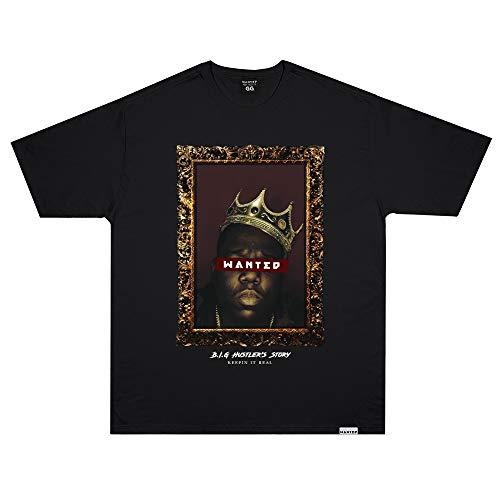 Camiseta Wanted - B.I.G Preto Cor:Preto;Tamanho:GG