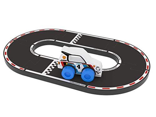 Millaminis Millaminis0162 Buddies - Racing Circuit (Black)-Made in Europe, Multi Colour