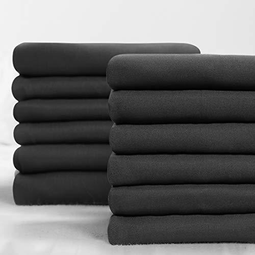 Balichun Premium Pillowcase 12 Pack - King Dark Grey - 1800 Thread Count - Soft Brushed Microfiber Hypoallergenic - Wrinkle Resistant - Tailoring Iron - Bulk Pillowcases Set of 12,1 Dozen