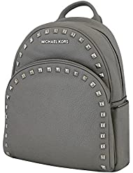 Michael Michael Kors Abbey Pearl Grey Medium Frame out Stud Leather Backpack