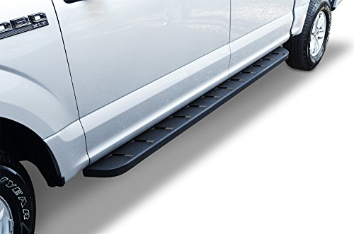 Go-Rhino-63441687T-Black-Textured-Length-Running-Board-for-Toyota-Crew-Max-Cab-Pair