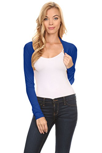 Simlu Jacket Boleros, Regular and Plus Size Blue Jacket Shrugs - USA, Royal Blue, X-Large from Simlu