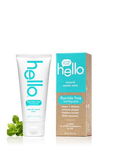 Hello Oral Care Fluoride Free Toothpaste, Natural Sweet Mint, 4.2 Ounce