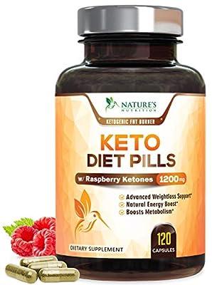 Keto Diet Pills - Keto Advanced Weight Loss 1200mg - Burn Fat Instead of Carbs, Ketosis Supplement & Ketogenic Fat Burner with Raspberry Ketones, Mango, Green Tea & Apple Cider Vinegar